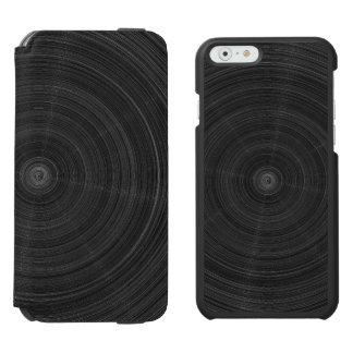 Capa Carteira Incipio Watson™ Para iPhone 6 Fragmento de aço do círculo preto Matte