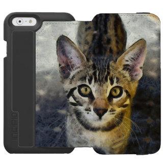 Capa Carteira Incipio Watson™ Para iPhone 6 Gatinho bonito de Bengal