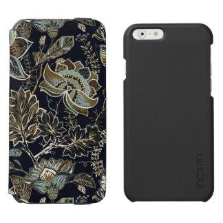 Capa Carteira Incipio Watson™ Para iPhone 6 Paisley antigo floresce o teste padrão preto do
