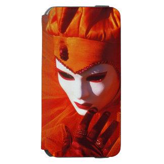 Capa Carteira Incipio Watson™ Para iPhone 6 Veneza, Italia (IT) - traje alaranjado do carnaval