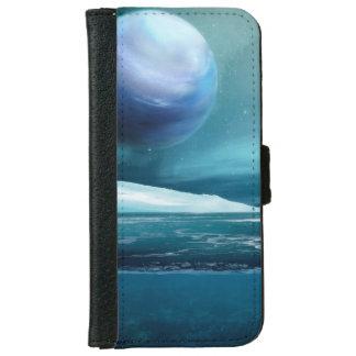 Capa Carteira Para iPhone 6/6s Caixa ártica da carteira do iPhone 6/6s da lua da