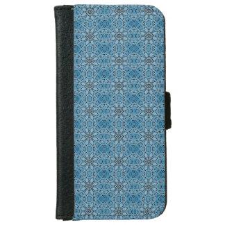 Capa Carteira Para iPhone 6/6s Círculos azuis abstratos