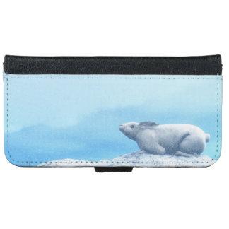 Capa Carteira Para iPhone 6/6s Lebre ártica, lepus ártico, ou coelho polar