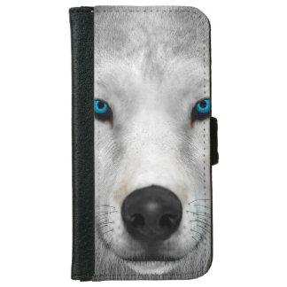 Capa Carteira Para iPhone 6/6s Lobo ártico