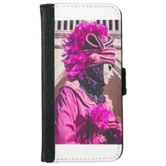 Capa Carteira Para iPhone 6/6s Máscara do carnaval em Veneza