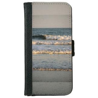 Capa Carteira Para iPhone 6/6s Ondas e gaivota do surf