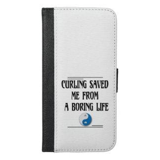 Capa Carteira Para iPhone 6/6s Plus Ondulação salvar me de uma vida aborrecida