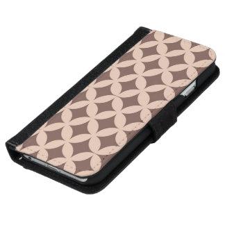 Capa Carteira Para iPhone 6/6s Teste padrão retro na caixa da carteira do iPhone