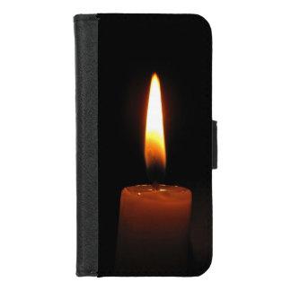 Capa Carteira Para iPhone 8/7 iPhone da chama de vela 8/7 de caixa da carteira