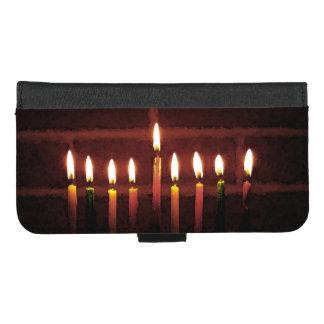 Capa Carteira Para iPhone 8/7 Plus iPhone de Hanukkah Menorah 8/7 de caixa positiva