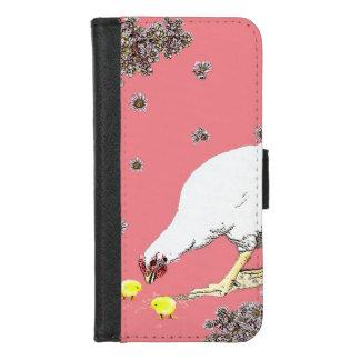 Capa Carteira Para iPhone 8/7 uma galinha e pintinhos