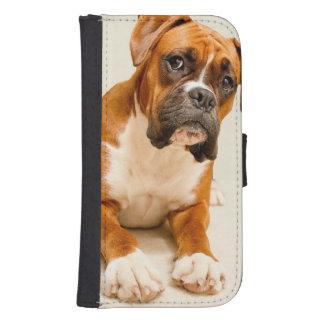 Capa Carteira Para Samsung Galaxy S4 Filhote de cachorro do pugilista no contexto do cr