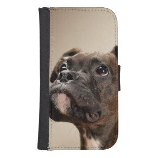 Capa Carteira Para Samsung Galaxy S4 Um filhote de cachorro rajado do pugilista que olh