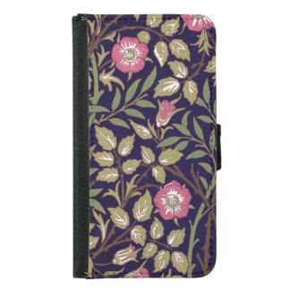 Capa Carteira Para Samsung Galaxy S5 Arte floral Nouveau do Briar doce de William
