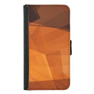 Capa Carteira Para Samsung Galaxy S5 Fundo abstrato da laranja para o design como o