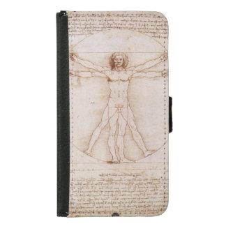 Capa Carteira Para Samsung Galaxy S5 Homem de Vitruvian por Leonardo da Vinci