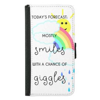 Capa Carteira Para Samsung Galaxy S5 Previsão feliz