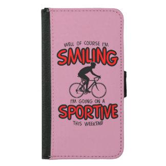 Capa Carteira Para Samsung Galaxy S5 W/end desportivo de sorriso