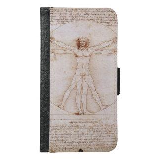 Capa Carteira Para Samsung Galaxy S6 Homem de Vitruvian por Leonardo da Vinci