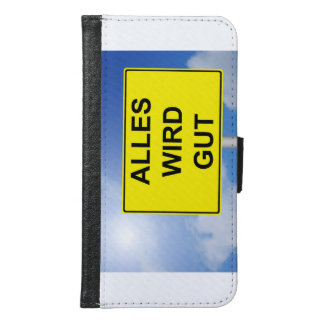 Capa Carteira Para Samsung Galaxy S6 Todo deve Gut escudo com pano de fundo de céu