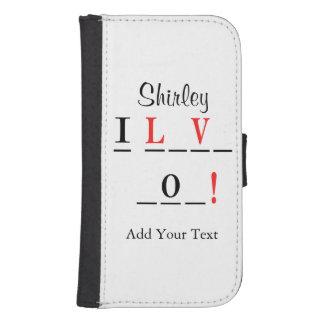 Capa Carteira Para Samsung S4 Eu amo o estilo do Você-Hangman por Shirley Taylor