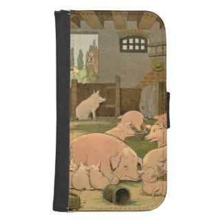 Capa Carteira Porcos e leitão na fazenda