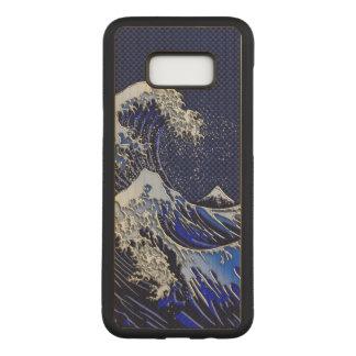 Capa Carved Para Samsung Galaxy S8+ O grande estilo do carbono do cromo da onda de