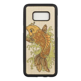 Capa Carved Para Samsung Galaxy S8 Peixe dourado colorido Koi