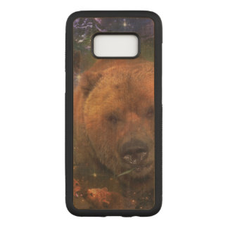 Capa Carved Para Samsung Galaxy S8 Urso gigantesco com Cubs