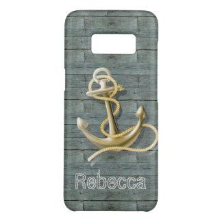 Capa Case-Mate Samsung Galaxy S8 âncora rústica natural chique litoral da madeira