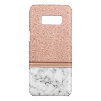 Capa Case-Mate Samsung Galaxy S8 Folha de ouro cor-de-rosa no mármore