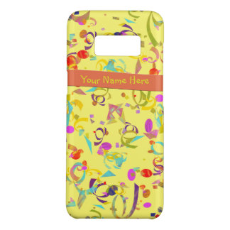 Capa Case-Mate Samsung Galaxy S8 Lance colorido dos confetes sobre o amarelo