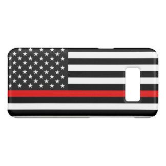 Capa Case-Mate Samsung Galaxy S8 Linha vermelha fina bandeira americana