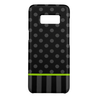 Capa Case-Mate Samsung Galaxy S8 Listras das bolinhas do verde limão e do preto
