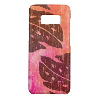 Capa Case-Mate Samsung Galaxy S8 Mistura havaiana da Laço-Tintura do rosa da folha