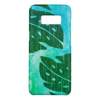 Capa Case-Mate Samsung Galaxy S8 Mistura havaiana da Laço-Tintura do verde da folha