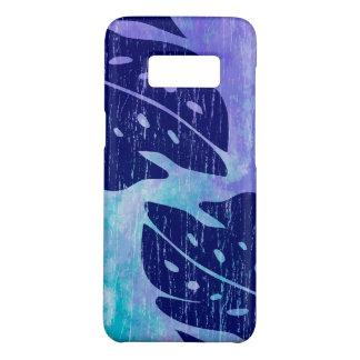 Capa Case-Mate Samsung Galaxy S8 Mistura roxa da Laço-Tintura Monstera da folha