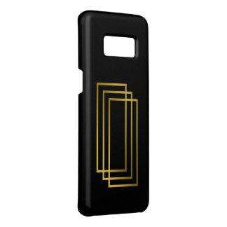 Capa Case-Mate Samsung Galaxy S8 retângulos geométricos do ouro claro elegante do