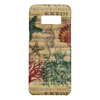 Capa Case-Mate Samsung Galaxy S8 seashell coral litoral chique do cavalo marinho da