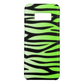 Capa Case-Mate Samsung Galaxy S8 Teste padrão da zebra do verde limão e do preto