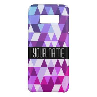 Capa Case-Mate Samsung Galaxy S8 Teste padrão geométrico do triângulo azul roxo
