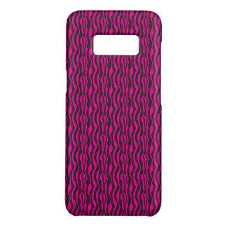 Capa Case-Mate Samsung Galaxy S8 Teste padrão na moda da zebra do rosa quente e do