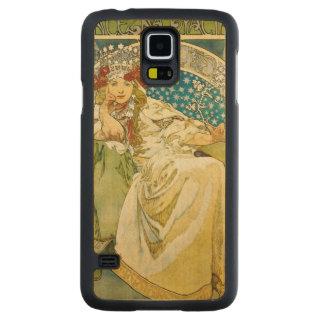Capa De Bordo Para Galaxy S5 Princesa Jacinto Arte Nouveau de Alphonse Mucha
