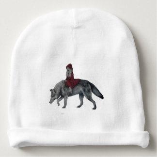 Capa de equitação vermelha gorro para bebê