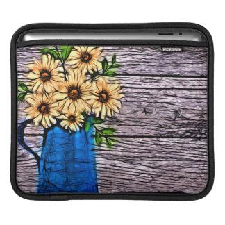Capa De iPad Margarida azul do verão do vaso do impressionismo