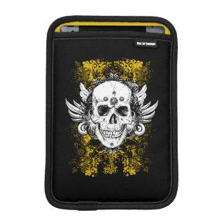 Capa De iPad Mini Crânio colorido do estilo do grunge com fundo
