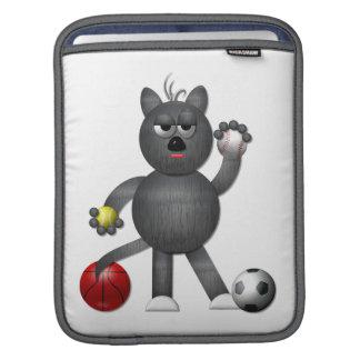 """Capa De iPad Refrigere o atleta """"3-D"""" do gato de beco"""