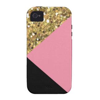 Capa de iphone 4 bonito do brilho, do rosa, & do