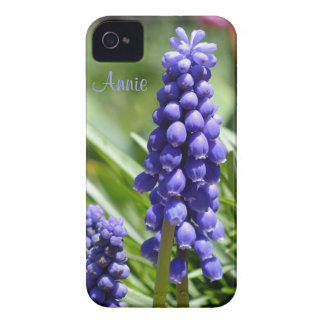 Capa de iphone 4 do Muscari (jacinto de uva)