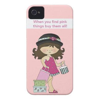 Capa de iphone 4 femininos cor-de-rosa capas para iPhone 4 Case-Mate
